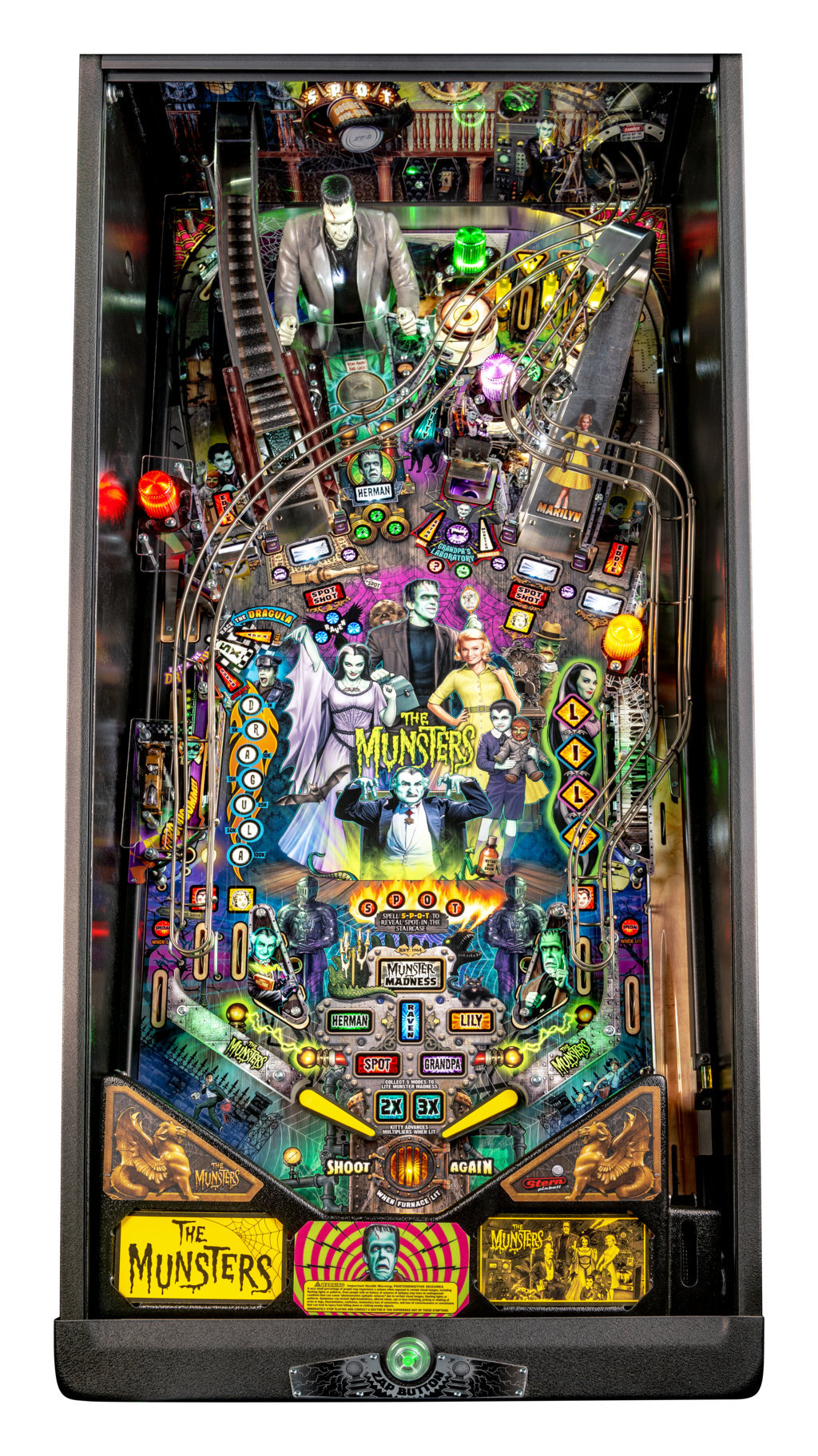 Munsters Pro Playfield mini